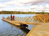 Floating dock / mooring / for marinas / plastic