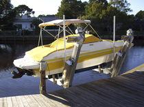 Boat elevator / dock-mounted / aluminum