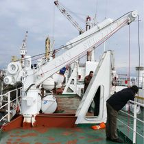 Ship davit / for rescue boats / lifeboat / hydraulic