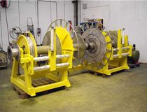 Fishing ship winch / longline / hydraulic drive / with spooling device