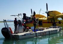 Outboard work barge / transportable / aluminum