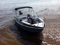 Outboard runabout / dual-console / bowrider / aluminum