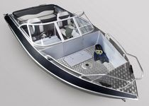 Outboard runabout / bowrider / sport-fishing / aluminum