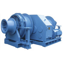 Ship winch / mooring / electric drive / double-drum
