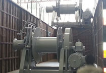 Ship winch / mooring / electric drive / single-drum