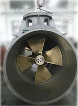 Lateral thruster / for ships / twin counter-rotating propellers