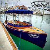 Pod drive small boat / electric / fiberglass / classic