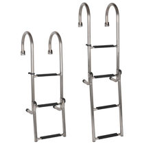 Boat ladder / foldable / boarding / stainless steel