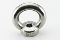 Eye nut / stainless steel / threaded