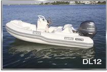 Outboard inflatable boat / semi-rigid / side console / 5-person max.