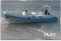 Outboard inflatable boat / semi-rigid / center console / 12-person max.