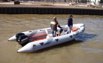 adventure boat : rigid inflatable boat (outboard, twin engine, jockey console) MOON 630 HEAVY DUTY astillero lunamar semirrigidas moon