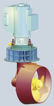 azimuth thruster for ships : L-drive  Brunvoll