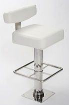 bar stool for yachts and ships (square base, stainless steel) MONACO Crown Ltd