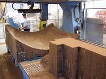 block in retified wood for composite manufacturing moulds (for boatyards and shipyards) RETISTAB RetzStab