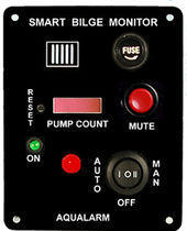 boat bilge monitoring and control panel (with alarm)  AQUALARM