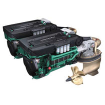 boat engine : in-board diesel engine 750 - 1000 hp (IPS, direct injection, sequential turbocharger) IPS 1050 (800 HP @ 2300 RPM) Volvo Penta