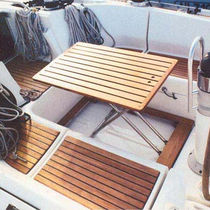 boat furniture : foldaway cockpit table FLOOR Casa Mare