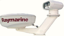 boat radar and Satcom antenna mount (aluminium) COMBO nauticalcreations llc