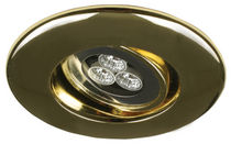 boat recessed downlight (LED, for interior lighting, brass) DL 90 aqua signal