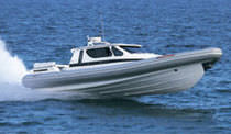 cabin rigid inflatable boat (in-board, with enclosed cockpit) SPORTECH 13.50 CABIN Duarry