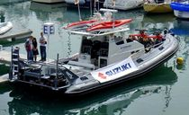 cabin rigid inflatable boat (outboard, four-engine, with enclosed cockpit, toilet) 1260 AIR RIDER RIB LeisureCat