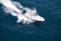 cabin rigid inflatable boat (outboard, twin engine, sundeck, roll-bar) 97 Zar Formenti