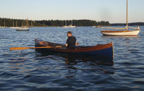 classic boat : open rowing boat (wooden construction kit)  Shearwater