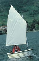 classic sailing and rowing open boat LIBELLULA VELA VERGA-PLAST