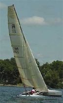 coastal racing sport catamaran (spinnaker, double trapeze) ARC 21 Aquarius Sail