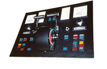 control panel for ship propeller (with control handle)  Finnoy
