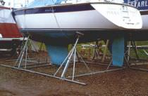 cradle for boats (boat stand, galvanised steel) SUPER-A Tennamast