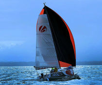 cruiser-racer sailboat (lifting bilge keel, tiller steering, trailerable, unsinkable) HEOL 7.4 BQ Heol Altona