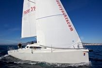 cruiser-racer sailboat (open transom, bow-sprit) PACER 310 SPRINT Pacer Yachts
