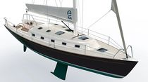 cruiser-racer sailboat (open transom, twin steering wheel) E44 E Sailing Yachts