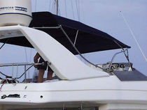 custom-made bimini top for power-boat   Nauti Sattler