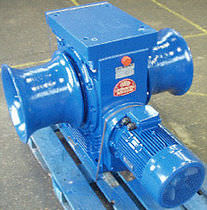 davit winch for ships (double drum)  Grumsen