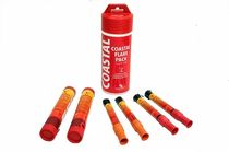 distress set for boats : coastal (hand flares, hand-held smoke signals, distress rockets)   Ocean Safety