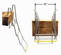 dock ladder (foldable) SW 1224 Scandia Marine Products