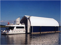 dock mounted boat canopy DUECK  International Marine Floatation Systems Inc.