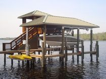 dock mounted boat canopy (with boat lift)  DECO Power Lift, Inc.