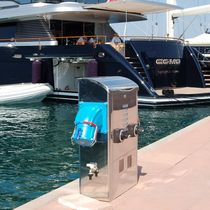 dock power and water pedestal (with integrated light) S700 XL MEGA YACHT 250 / 400AMP SOCKETS Plus Marine