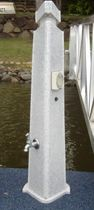 dock power and water pedestal (with integrated light)  Superior Jetties