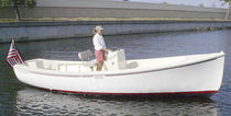 electric boat : center console boat ELECTROBAY 23 Ray Electric Outboard