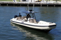 equipped rigid inflatable boat (outboard, twin engine, center console, sundeck, T-Top, teak deck) 33 WIDEBODY Nautica Ribs