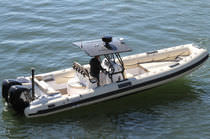 equipped rigid inflatable boat (outboard, twin engine, center console, sundeck, T-Top, teak deck) 30 WIDEBODY Nautica Ribs