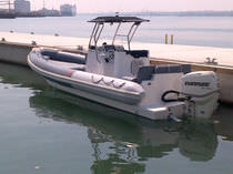 equipped rigid inflatable boat (outboard, center console, T-Top) 8M Piranha Ribs Ltd