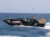 equipped rigid inflatable boat (outboard, four engines, center console, sundeck, roll-bar) SPORTECH 12 OPEN Duarry