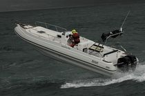 equipped rigid inflatable boat (outboard, twin engine, center console, roll-bar) 900 SATELLITE Barracuda