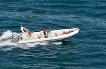 equipped rigid inflatable boat (outboard, twin engine, center console, sundeck, teak deck) WAVE 27 ALTAMAREA - COSTRUZIONI NAUTICHE